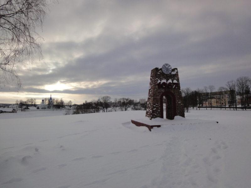 Орша, Детинец, здесь на возвышении стоял Оршанский замок.
